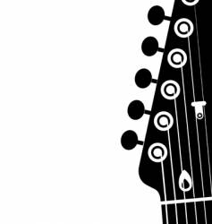 guitar head vector image vector image