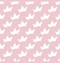 print seamless pattern with crowns seamless vector image