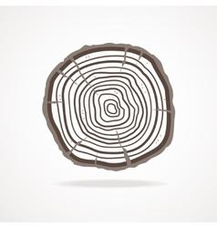 tree rings Flat Design vector image vector image