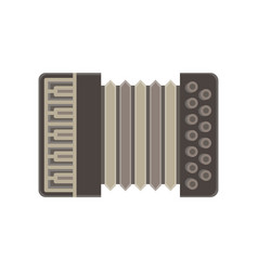 accordion isolated music icon musical instrument vector image