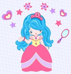 Beauty princess vector image