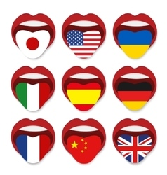 Foreign language school concept Foreign language vector image