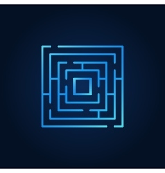 Labyrinth blue icon vector image vector image