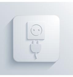 modern plug light icon vector image