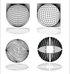 modern spheres vector image