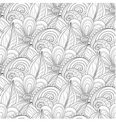 seamless monochrome floral pattern vector image vector image