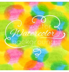Watercolor hand painted colorful background vector image vector image