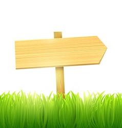 wooden board index vector image vector image