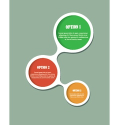 Abstract web design option bubbles vector image