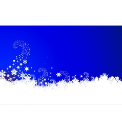 christmas background with snowflake vector image vector image