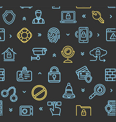 data security and safe pattern background vector image vector image
