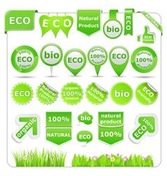 green eco design elements vector image