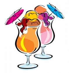 ice cocktail vector image vector image
