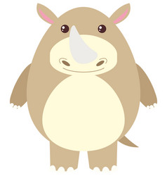 rhino with happy face vector image