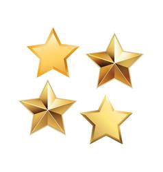 set of golden stars vector image