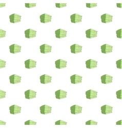 Stack of money pattern cartoon style vector image