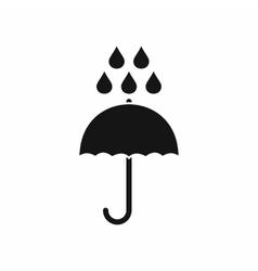 Umbrella and rain drops icon simple style vector