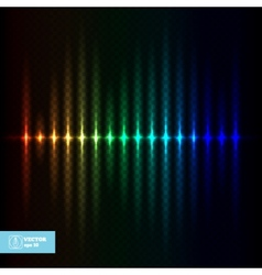 Abstract Glow Equalizer vector image