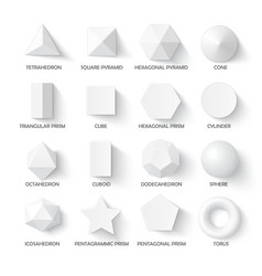 All basic 3d shapes vector image