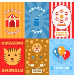 Amusement Park Poster vector image vector image