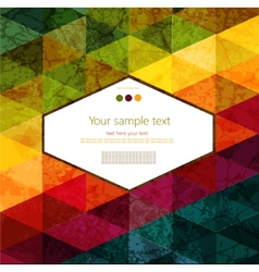 Colorful abstract geometric background vector image vector image