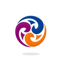 decorative circle swirl abstract logo vector image vector image