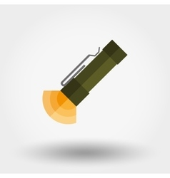 Flashlight icon Flat vector image