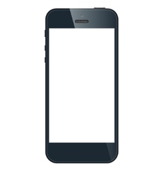 Realistic black iPhone 5s with blank screen vector image vector image