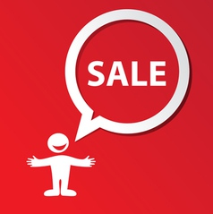 sale template vector image