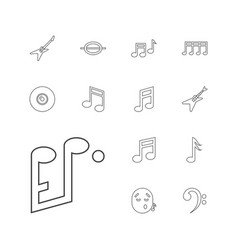 13 melody icons vector
