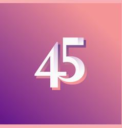45 years anniversary rainbow number template vector