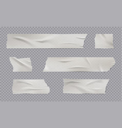 Adhesive tape realistic sticky wrinkled paper vector