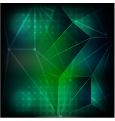 Background template with dim light in green vector