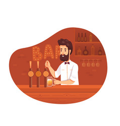 Bartender occupation flat vector