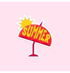 Beach Umbrella Bright Color Summer Inspired vector image