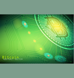 bitcoin currency sign business concepts vector image