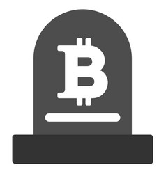 Bitcoin monument flat icon vector