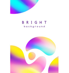 booklet cover template bright blurred background vector image