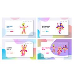Brazilian carnival samba dancers website landing vector