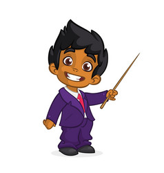 cartoon cute arab boy vector image