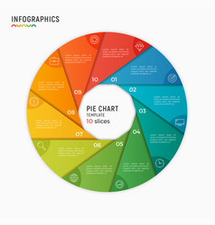 Circle chart infographic template 10 vector