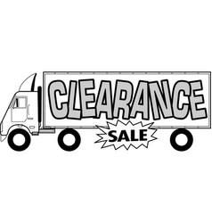 Clearance auto sale vector