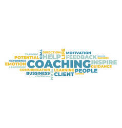 coaching word cloud concept vector image