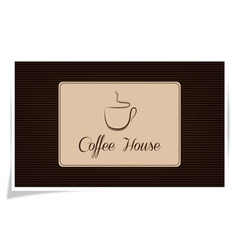 Coffe house vector