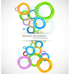 Colorful background with circles vector image