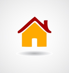 Colorful Flat icon Home on shadow isolated vector image