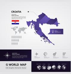 croatia map vector image