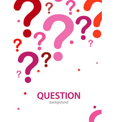 Design cover layout or banner with text question vector