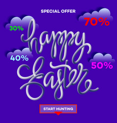 easter egg sale banner background template 5 vector image