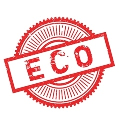 Eco stamp rubber grunge vector